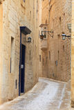 Mdina narrow street Royalty Free Stock Photo