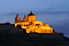 Mdina by Night Royalty Free Stock Photo