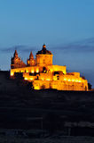 Mdina by Night Royalty Free Stock Images