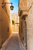 Mdina - silent city of Malta. Street of Mdina - silent city of Malta Stock Photos