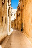 Mdina - silent city of Malta Stock Photo