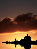 Mdina Silhouette. Mdina, medieval silent city of Malta, silhouetted against sky at dusk Stock Image