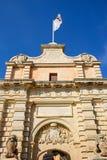 Mdina Town Gate, Malta. Stock Photos