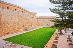 Mdina walls into fortified old city Malta. Mdina walls into the fortified old city, Malta Stock Photos