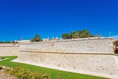 Mdina walls of fortified old city Malta. Mdina walls of the fortified old city, Malta Royalty Free Stock Photography