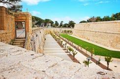 Mdina walls at fortified old city Malta. Mdina walls at the fortified old city, Malta Royalty Free Stock Photography