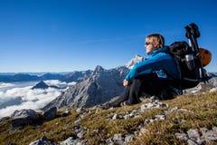 Méditation de montagne Images libres de droits