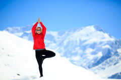 Méditation heureuse de yoga de liberté Photos stock