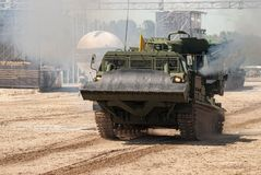 MDK crews in action on Army Games. Russia Stock Images