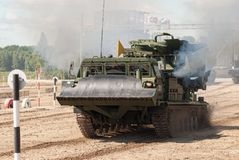 MDK crews in action on Army Games. Russia Royalty Free Stock Image