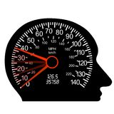 móżdżkowy samochodowy ludzki szybkościomierz Fotografia Stock