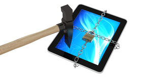MDM Tablet break Royalty Free Stock Photo