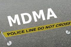 MDMA - concepto narcótico libre illustration