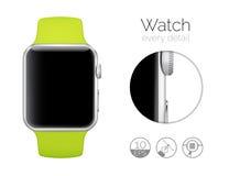 Mądrze zegarek odizolowywający Zdjęcia Stock