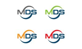 MDS Logo. Vector illustration style is flat iconic and design elements on white background Royalty Free Stock Image