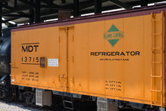 MDT IC No.13715 Merchants Dispatch Transportation Illinois Central Railroad Refrigerator car Royalty Free Stock Photo