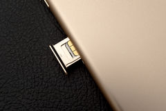 Módulo unboxing de la TARJETA del inser SIM de la cámara dual más de IPhone 7 Imágenes de archivo libres de regalías