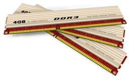 Módulos da memória DDR3 Fotos de Stock Royalty Free