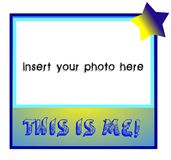 This is me!. This is me photoframe. To insert photos of your children royalty free illustration