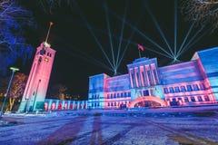 25ème anniversaire de la défense de la liberté de la Lithuanie Image libre de droits