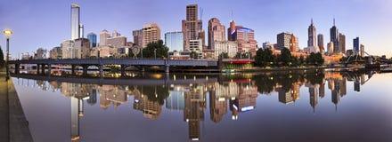 Me CBD River Still Reflect Panorama Stock Photo