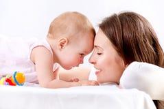 Mãe e bebê Fotos de Stock