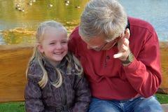Me e Grandpa Fotografie Stock Libere da Diritti