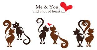 Me e voi - carta di regalo felice di giorno di biglietti di S. Valentino Immagini Stock Libere da Diritti