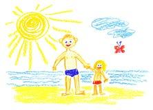 Me ed il mio papà illustrazione di stock