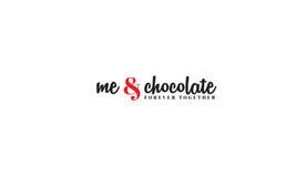 Me en chocolade stock illustratie