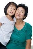Me en grootmoeder Stock Foto