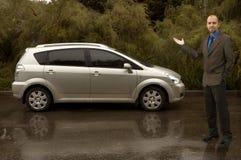 Me en mijn auto! Stock Foto