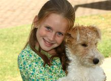 Me en mijn hond Royalty-vrije Stock Afbeeldingen