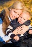 Me en mijn mamma. Royalty-vrije Stock Afbeelding