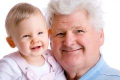 Me en mijn opa stock foto's