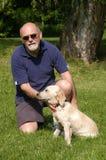 Me en mijn puppy che Royalty-vrije Stock Foto's