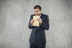 Me en mijn steekpenning, envelop Stock Fotografie