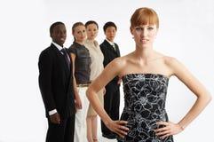 Me en mijn team Royalty-vrije Stock Afbeelding