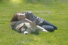 Me en mijn vriend Stock Afbeeldingen