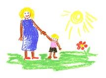 Me en moeder Stock Afbeeldingen