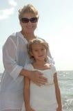 Me en Oma Royalty-vrije Stock Fotografie