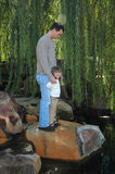 Me en Papa Royalty-vrije Stock Foto's