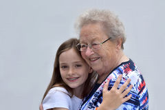 Me and grandma Stock Photography