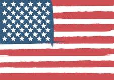 4?me heureux de la carte de voeux de Jour de la D?claration d'Ind?pendance de juillet Etats-Unis avec onduler la conception am?ri illustration stock