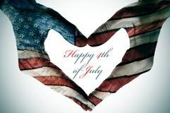 4ème juillet heureux Photo libre de droits