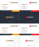 Me logo business card 1 Stock Images
