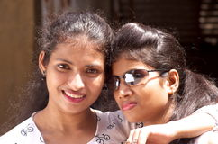 Me and my beautiful sister Stock Images