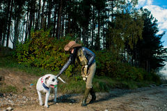 Me and my best dog Royalty Free Stock Images