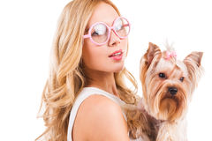 Me and my dog. Stock Photography