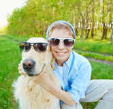 Me and my dog Stock Image